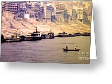 Life On The Yangte  Greeting Card