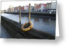 Life Saver -  Swiffey River - Dublin Ireland Greeting Card