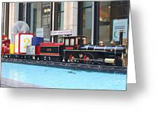 Life Size Toy Train Set In Nyc Greeting Card