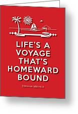 Life Voyage Red Greeting Card