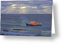 Lifeboats And A Gig Greeting Card