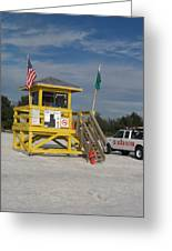 Lifeguard And Beachpatrol Greeting Card