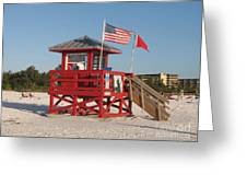 Lifeguard Siesta Beach Greeting Card