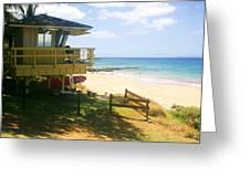 Lifeguard Hut On The Beach Greeting Card