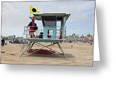 Lifeguard Shack At The Santa Cruz Beach Boardwalk California 5d23711 Greeting Card by Wingsdomain Art and Photography