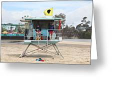 Lifeguard Shack At The Santa Cruz Beach Boardwalk California 5d23713 Greeting Card