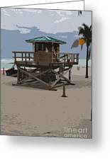 Lifeguard Station IIi Abstract Greeting Card