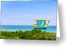 Lifeguard Station In Miami Greeting Card