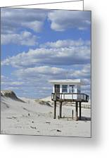 Lifeguard Station Island Beach State Park Nj Greeting Card