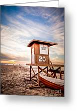 Lifeguard Tower 20 Newport Beach Ca Picture Greeting Card