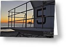 Lifeguard Tower 5  Greeting Card
