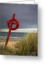 Lifesaver On The Beach Greeting Card