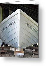 Lifesaving Boat Greeting Card