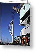 Lifting Portsmouth's Spinnaker Tower Greeting Card