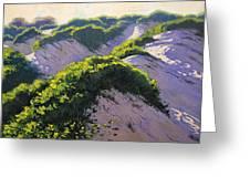 Light Across The Dunes Greeting Card