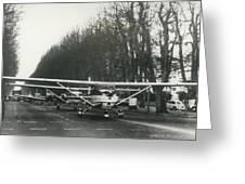 Light Aircraft In March Past Greeting Card