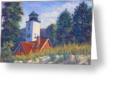 Light At Presque Isle Greeting Card