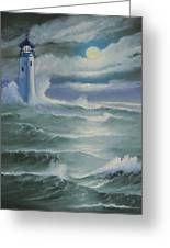 Light At Sea Greeting Card