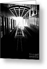 Light At The End Of The Tunnel. Greeting Card