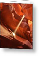 Light Beam In Canyon Greeting Card
