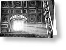 Light Beams In St. Peter's Basillica Greeting Card by Susan Schmitz