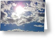 Light Behind The Clouds Greeting Card