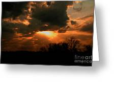 Light Beyond The Clouds Greeting Card