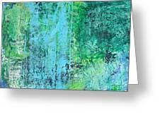 Light Blue Green Abstract Explore By Chakramoon Greeting Card
