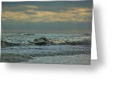 Light Blue Waves Greeting Card