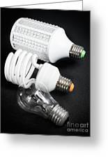 Light Bulb Generations Greeting Card