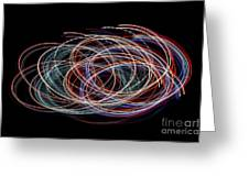 Light Circles Greeting Card