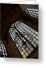 Light - Arched Windows And Golden Chandeliers Greeting Card