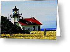 Light House At Midday Greeting Card
