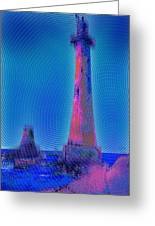 Light House At Sunset 1 Greeting Card