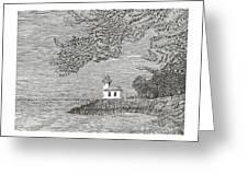 Light House On San Juan Island Lime Point Lighthouse Greeting Card