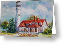 Light House, Wisconsin  Greeting Card