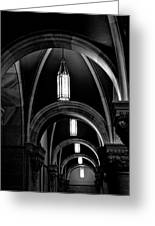 Light In The Basilica Greeting Card