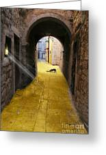 Light In The Tunnel Greeting Card