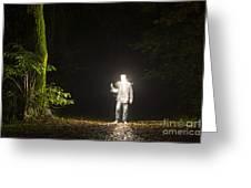 Light Man Greeting Card