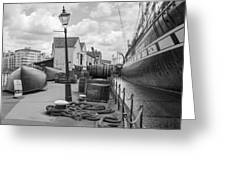Light Of The Dock Greeting Card
