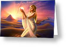 Light Of The Sands Greeting Card