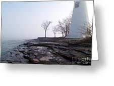 Light On Erie Greeting Card