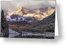 Light On Maroon Bells Greeting Card