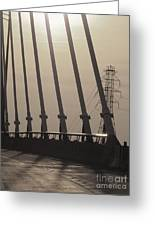 Light On The Bridge Greeting Card