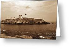 Light On The Nubble Greeting Card by Skip Willits