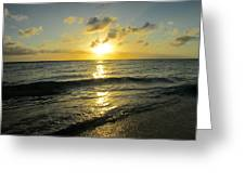 Light On The Sea Greeting Card
