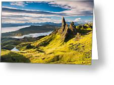 Light On The Storr Greeting Card