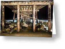 Light Painted Pier Greeting Card