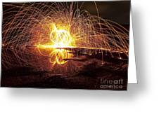 lIGHT PAINTING Greeting Card