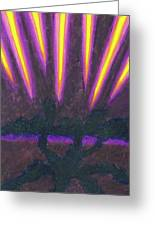 Light Penetrates The Gloom Greeting Card